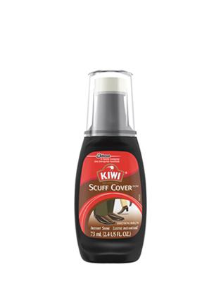 Brown KIWI® Scuff Cover™ Instant Wax Shine